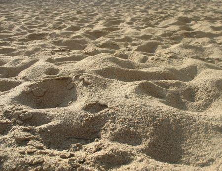 Einbuchtung: Sandigen Boden