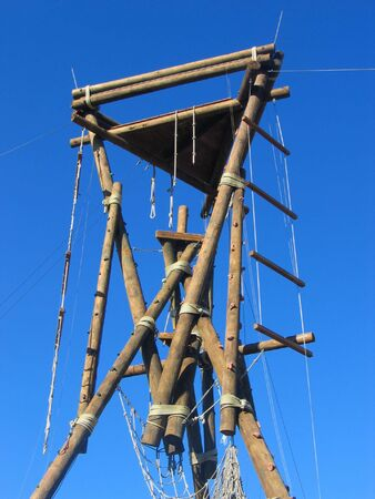 a vertical obstacle course