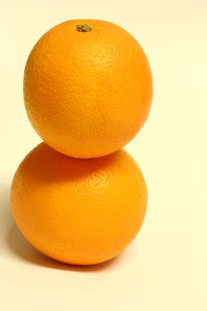 a stack of oranges