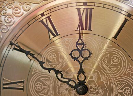 winder: fancy old clock  Stock Photo