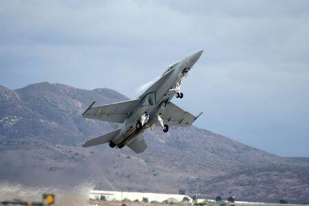 military jet at take off