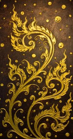Le Thai traditionnel style art de la peinture  Banque d'images