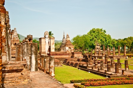 The Historical park of sukkothai province,Thailand Stock Photo - 8029296