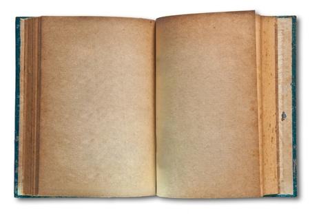 leerboek: Het boek van de Vintage geïsoleerd op witte achtergrond
