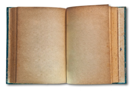 The Vintage book isolated on white background Stock Photo