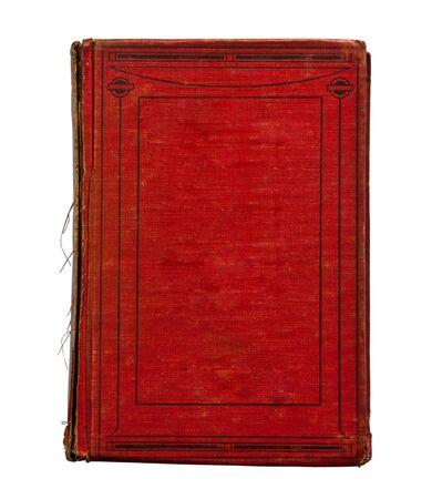 Le vieux livre isol� sur fond blanc Banque d'images