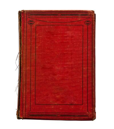 note book: The Old book isolated on white background