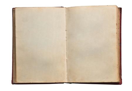 libros antiguos: El libro en blanco viejo aislado en fondo blanco