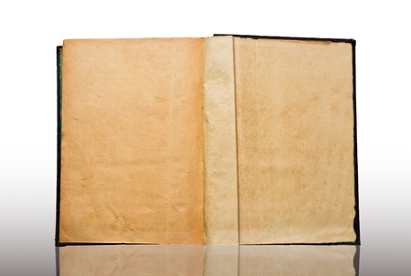 The Vintage book isolated on white background photo