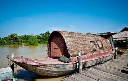 The Vintage boat in thailand photo