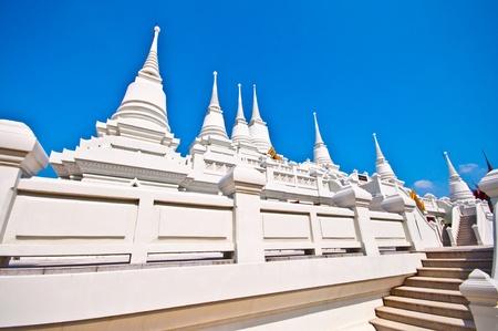 The White Pagoda on blue sky background photo