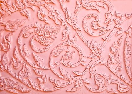 The Stucco of pattern thai style Stock Photo - 10869469