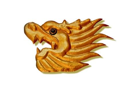 The Phoenix status isolated on white background photo