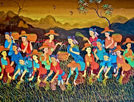 The Painting of thai culture style Stock Photo - 11044610