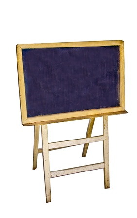 The Blank of blackboard isolated on white background photo