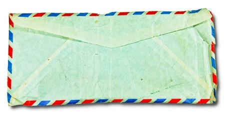 The Backside old envelope isolated on white background photo