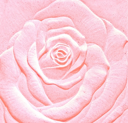 The Sculpture sandstone of rose photo