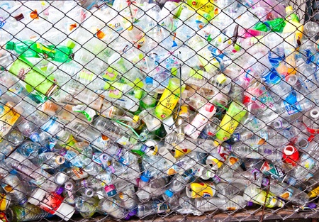 plastic: The Bottle plastic  to be recycle Stock Photo