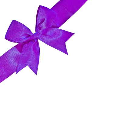 The Purple ribbon isolated on white background Stock Photo - 11884554