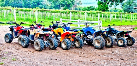 The All terrain vehicles ready to hit the trails