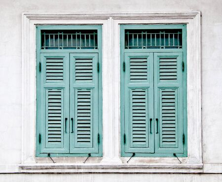 The Old window on wall background Stock Photo - 11927748