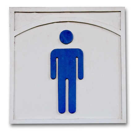 The Sign of  public restroom for men photo