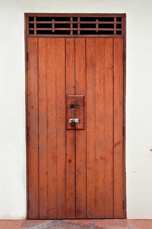 The Ancient door of thai style Stock Photo - 11953203
