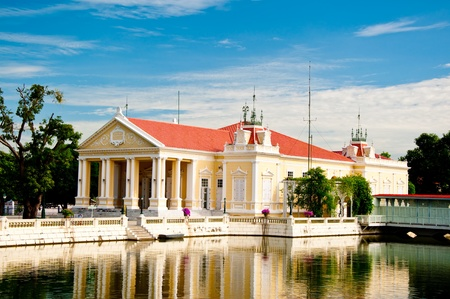 neoclassic: The Neo-Classic style building in Bang Pa-In Palace, Thailand