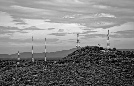 The Telecommunication tower on the mountain Stock Photo - 12003960