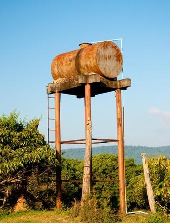 The OId water tank in farm