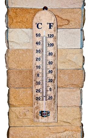 fahrenheit: La madera Celsius Fahrenheit term�metro