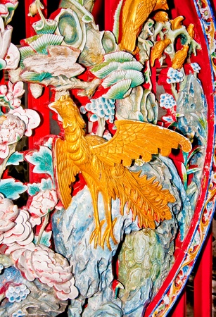 The Colorful of phoenix  of joss house