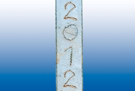 The Abstract cement pole of 2012 photo