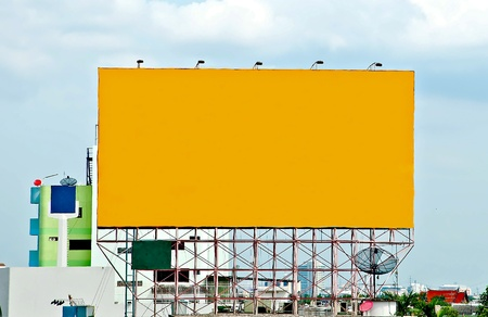 custom cabinet: The Blank of board for advertise along the road Stock Photo