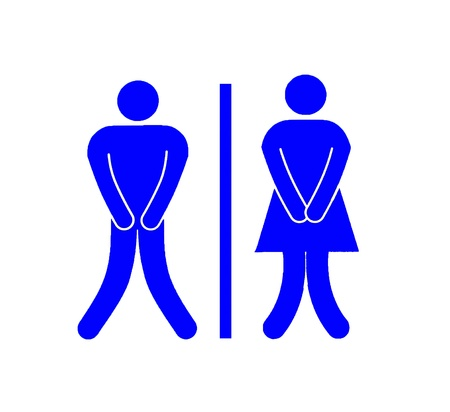 The Women and Men toilet  sign isolated on white background Stock Photo - 12309431