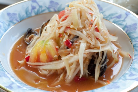 The Papaya salad Stock Photo - 12309525