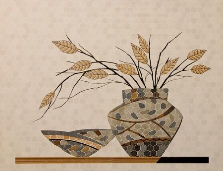 La d�coration en c�ramique color� carreaux de mur