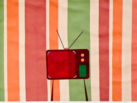 restyled: The Painting tv on wall background
