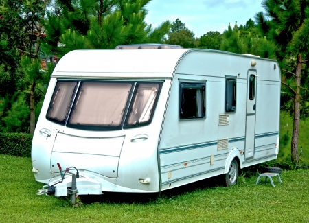 The Camping or caravan car Stock Photo
