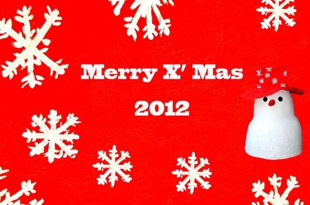 The Snowman card of merry x mas 2012 photo