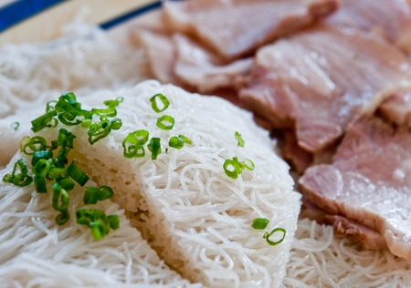 The Vietnam noodle with pork Stock Photo - 12309526