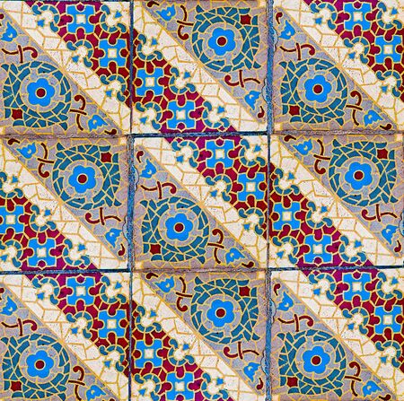 glaze: The Colorful of old ceramic floor background