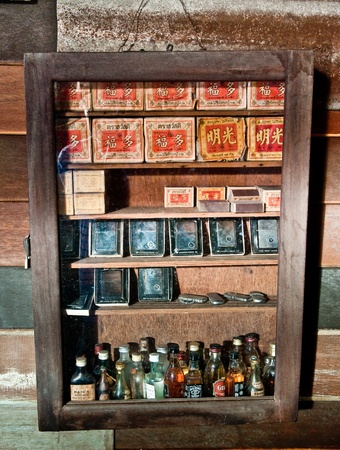The Old cabinet in shop