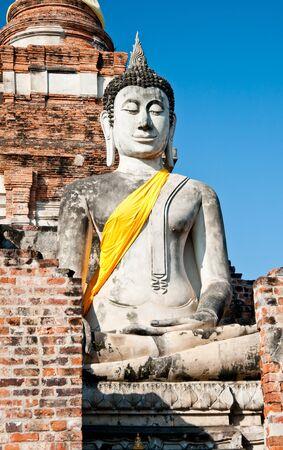ayuttaya: The Buddha status of wat yaichaimongkon at ayuttaya province,Thailand