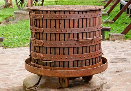 The Ancient equipment of vineyard photo