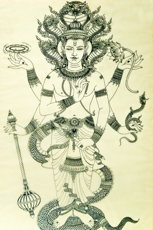 The Brahma hindu god