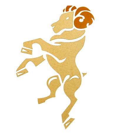 aries zodiac: The Ceramic of zodiac aries Stock Photo