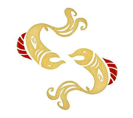 The Ceramic of zodiac pisces photo