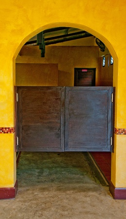 The Old wooden door saloon mexican style