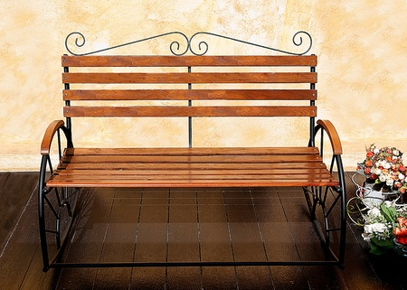 The Old wooden bench